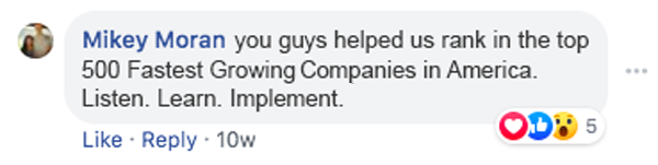 postive customer testimonial